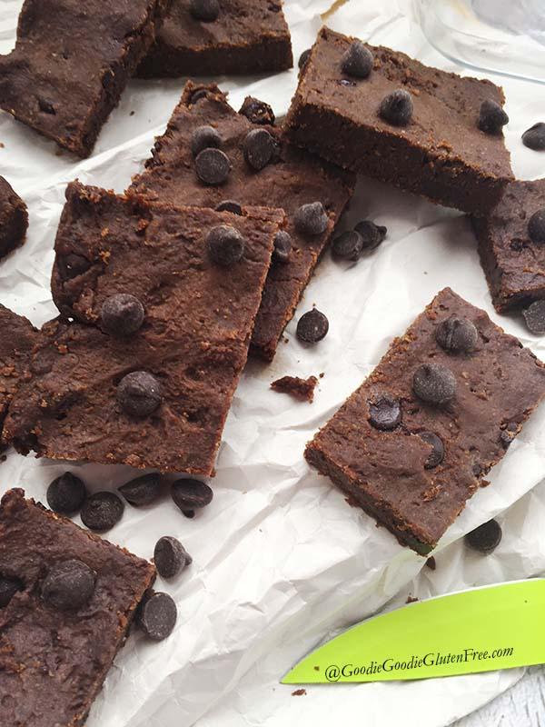 copycat pure genius gluten free chocolate chickpea brownies