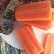 Dairy-Free Tropical Papaya Popsicles {Vegan, Paleo}