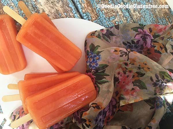 dairy free tropical papaya popsicles paleo vegan