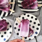 Gluten-Free Blueberry Pie Popsicles {Dairy-Free, Sugar-Free, Nut-Free}