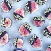 Chocolate Dipped Hemp Seed Figs