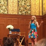 Gabby Bernstein teaching her free workshop The Universe Has Your Back as a pre - tease to her newly launched book