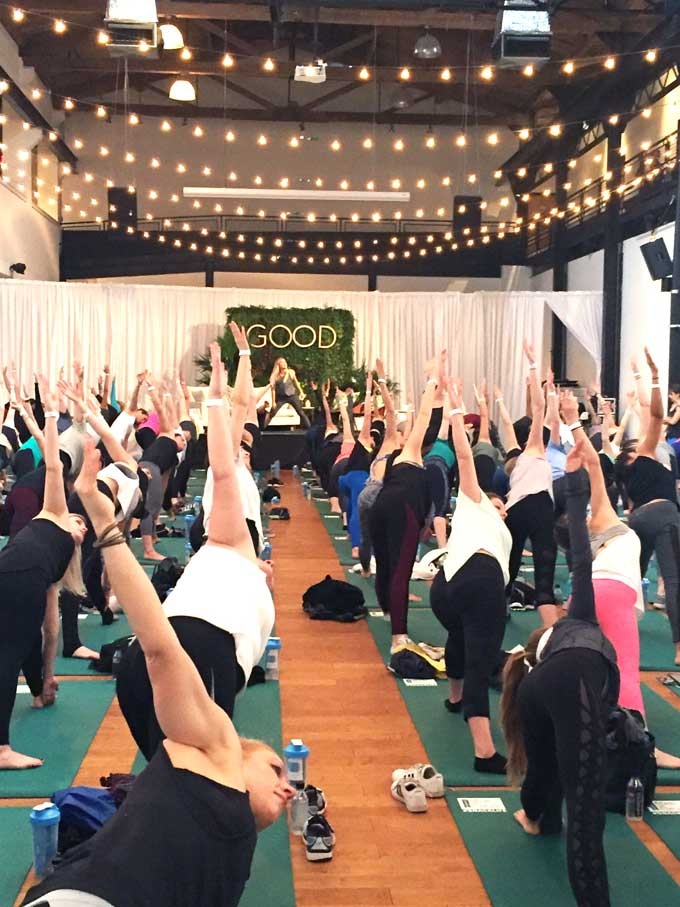 The Balanced Blonde aka Jordan Younger at Good. A wellness fest review in philly