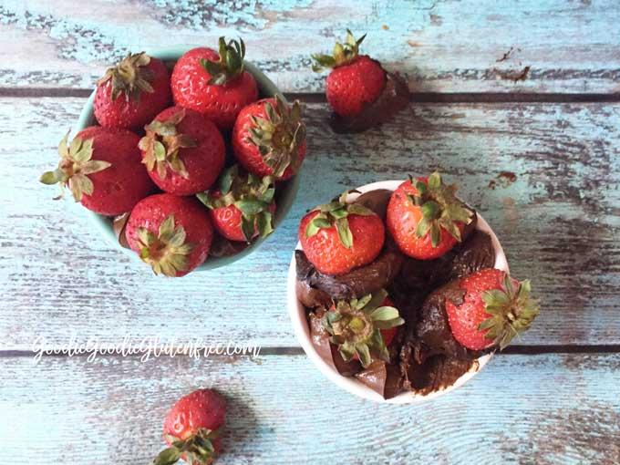 Decadent. Fudgy. Chocolatey. Strawberry Chocolate Avocado Mousse Gluten-Free & Vegan
