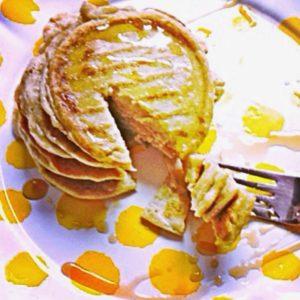 killer blueberry pancakes sans blueberries