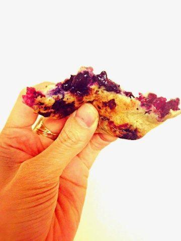 a bit into gluten-free sugar-free blueberry pancakes
