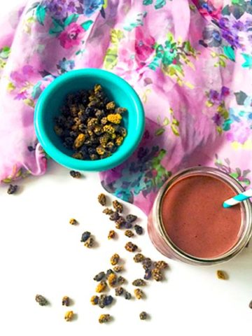 acai cherry mulberry creamy smoothie