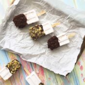 Gluten-Free Coconut Cookie Popsicles