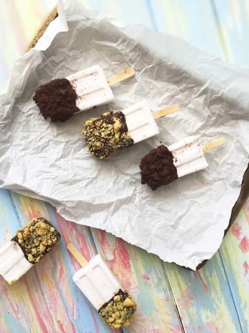 coconut popsicle gluten free cookie crumble