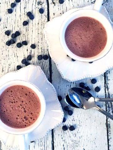 dairy free cardamom hot cocoa