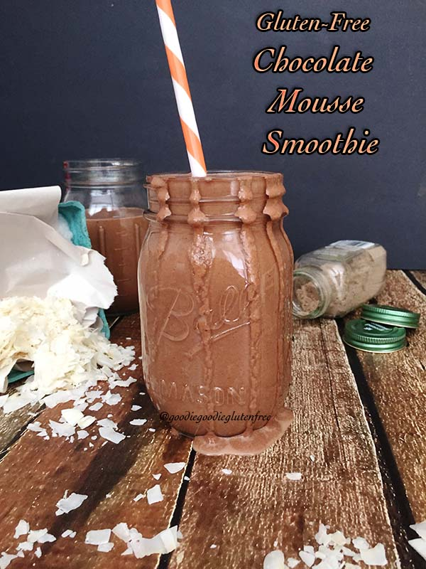 gluten free chocolate zucchini green smoothie