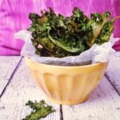 Simply Baked Mustard Green Chips