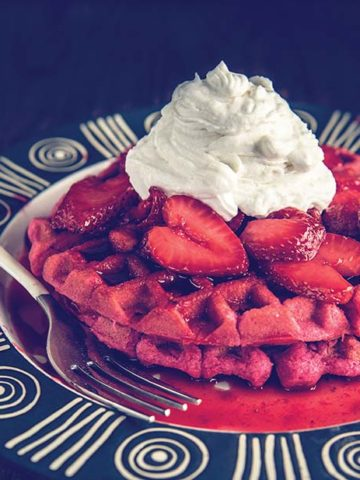 gluten free strawberry waffles