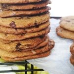 crispy chewy gluten free chocolate chunk cookies