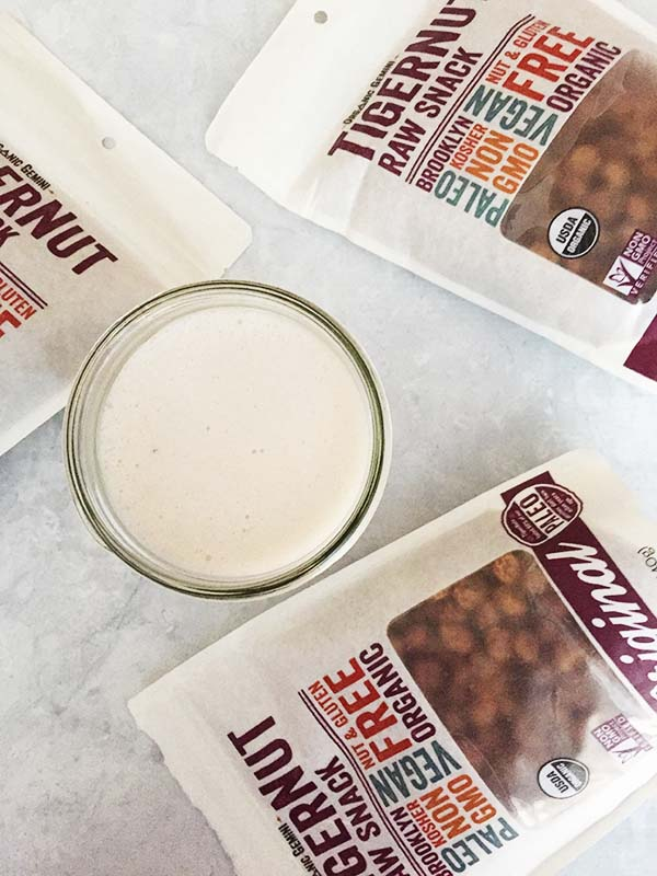 easy nut free tigernut milk recipe
