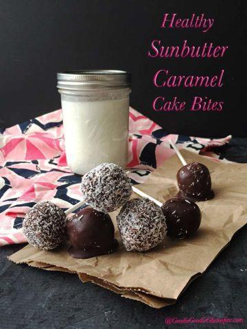 healthy caramel sunbutter cake bites vegan gluten free