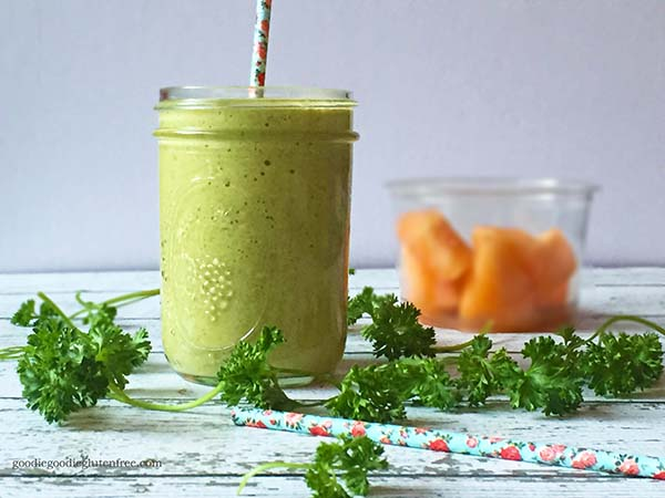 healthy creamy cantaloupe dairy free green smoothie