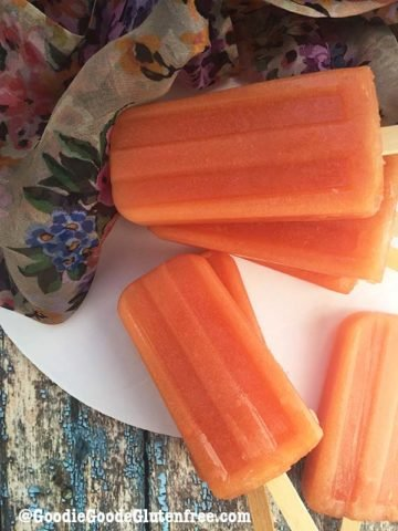 dairy free papaya tropical popsicles vegan paleo