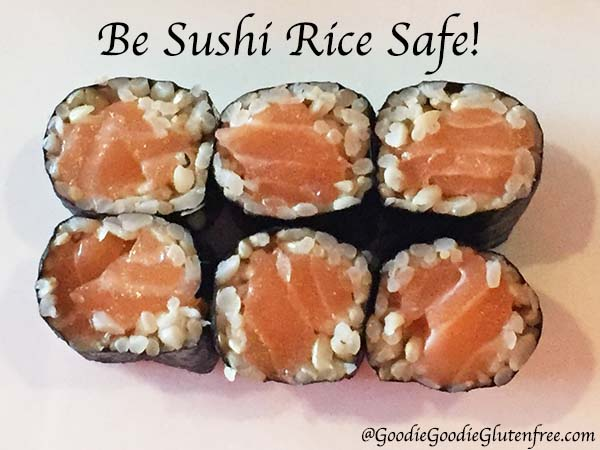 Celiac sushi rice safe
