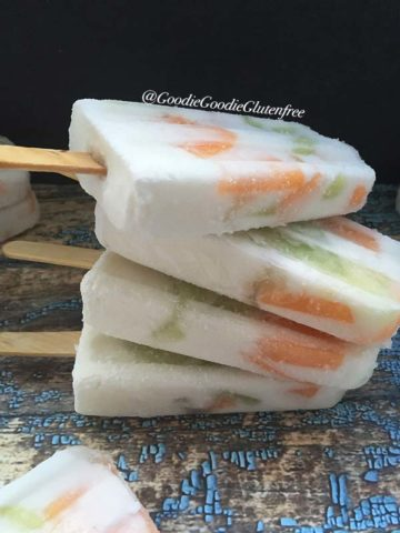 dairy free cantaloupe honeydew melon popsicles