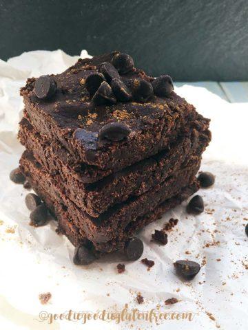 gluten free expresso chocolate brownie recipe nut free vegan