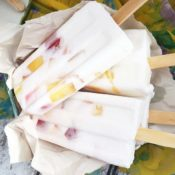 Nectarines & Cream Ice Pops (Dairy-Free)