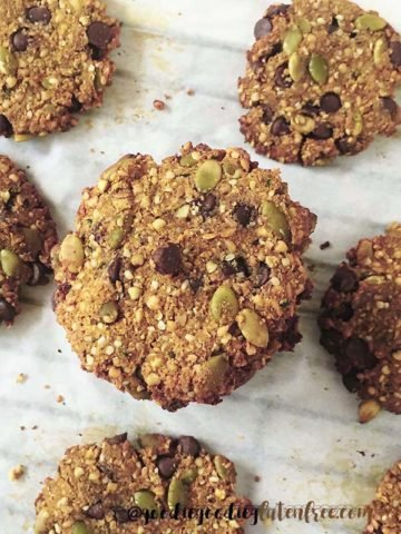 Gluten-Free Tigernut Breakfast Cookies that are deliciously nutritious, vegan and nut-free