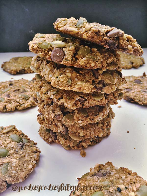 Deliciously Nutritious TigerNut Breakfast Cookies that are naturally Gluten-Free, Vegan, Nut-Free and Sugar-Free by Julie Rosenthal of Goodiegoodieglutenfree.com