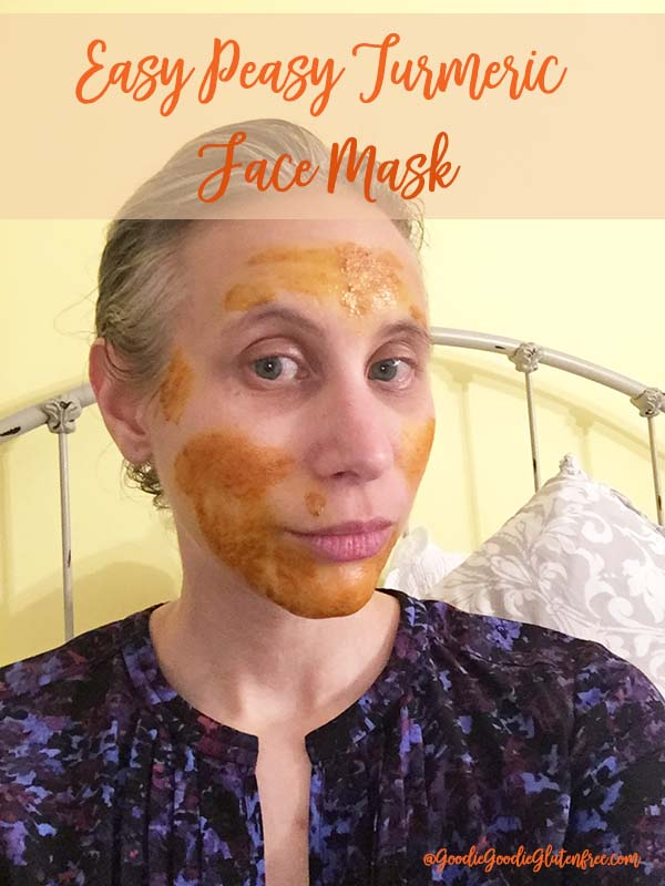 DIY easy turmeric face mask