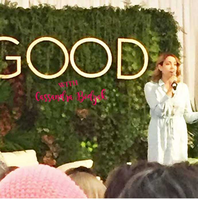Cassandra Bodzak speaking at Good. A Wellness Fest in Philly