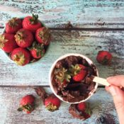 Simple & Easy Strawberry Chocolate Avocado Mousse! Gluten-Free, Paleo, Vegan and decadent!!