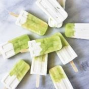 Honeydew Vanilla Yogurt Popsicles { Vegan, Paleo, Sugar-Free}