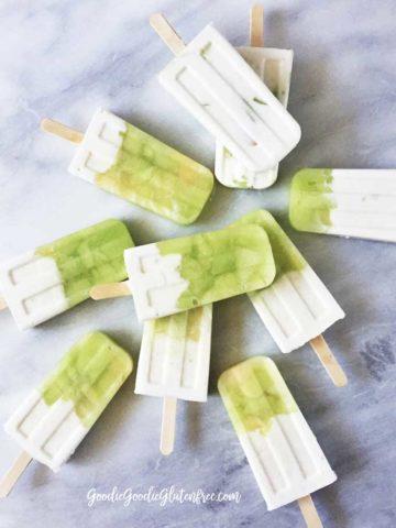 Vanilla Honeydew Yogurt Popsicles // Dairy-free, Vegan, Gluten-free, Paleo, Sugar-free goodness!