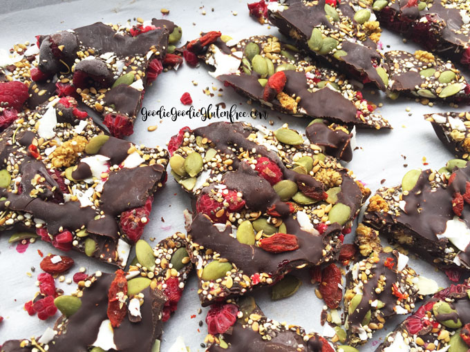 Chocolate Superfood Bark Nut-Free, Vegan, Gluten-Free