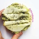 gluten free pear avocado toast vegan