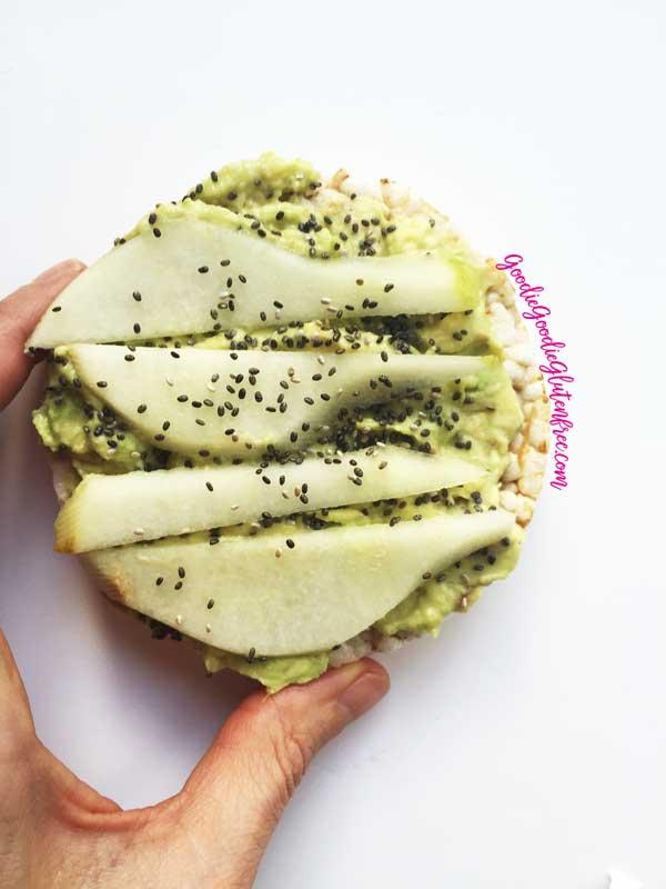 Gluten-Free Avocado Pear Toast {Vegan}