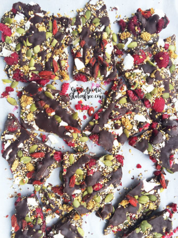 Superfood Chocolate Bark Gluten-Free, Vegan, Nut-Free