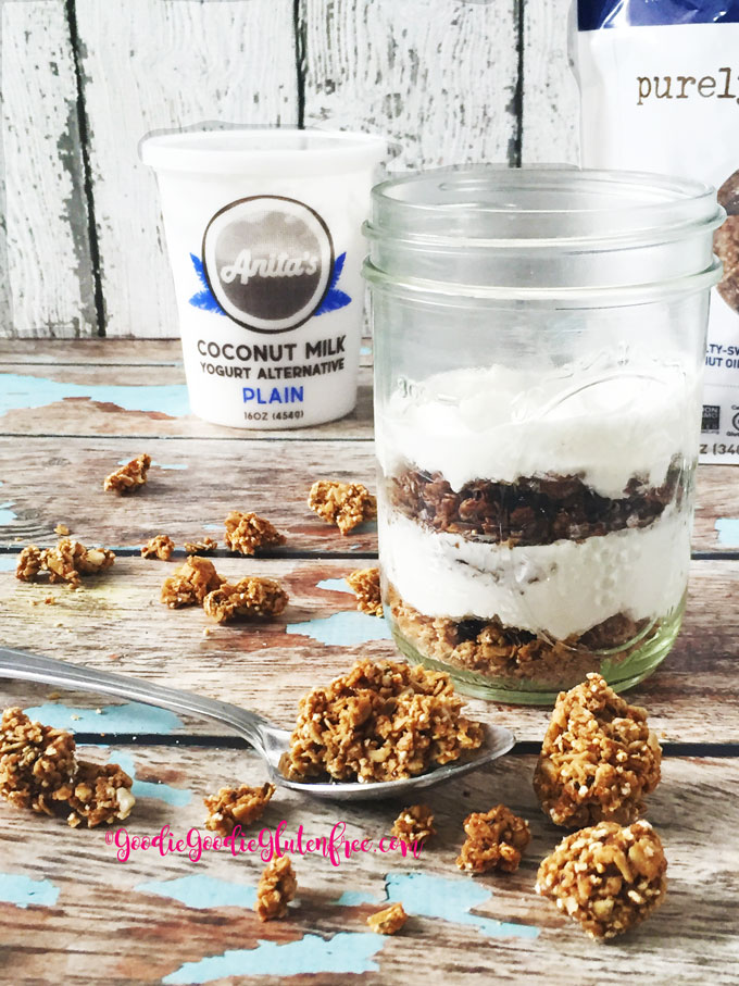 healthy coconut yogurt parfait with granola