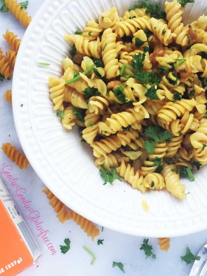Garlic knot pasta gluten-free vegan
