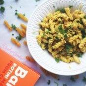 Gluten-Free Garlic Knot Pasta {Dairy-free, Vegan, Nut-free}