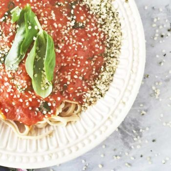 chickpea pasta hemp seed marinara