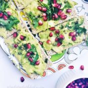 Gluten-Free Superfood Avocado Toast with Pomegranate Seeds {Vegan, Nut-Free}