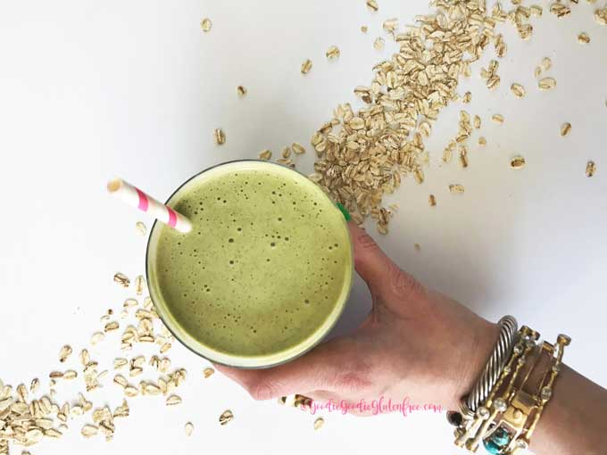 snickerdoodle cookie green smoothie vegan, nut-free and dairy-free
