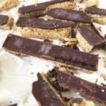 Gluten-free quinoa crunch chocolate slice