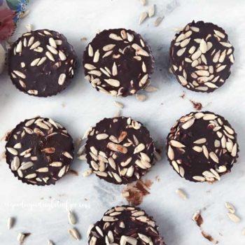 Sunflower seed chocolate coins vegan and paleo
