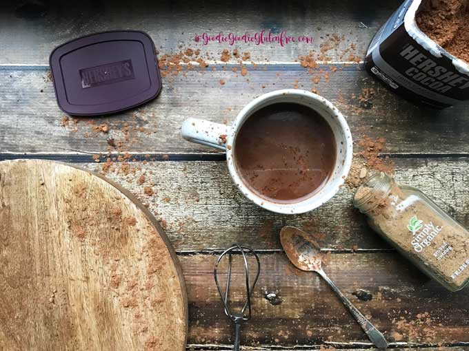 Easy superfood hot cocoa sugar free