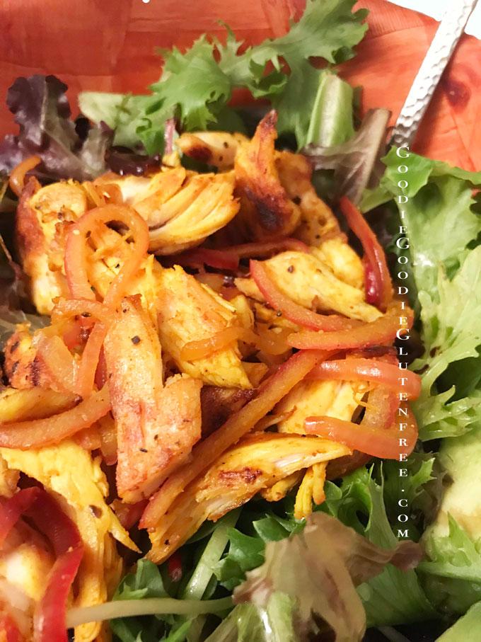 gluten free turmeric fajita salad paleo