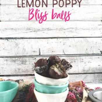 Chocolate covered lemon poppy bliss balls