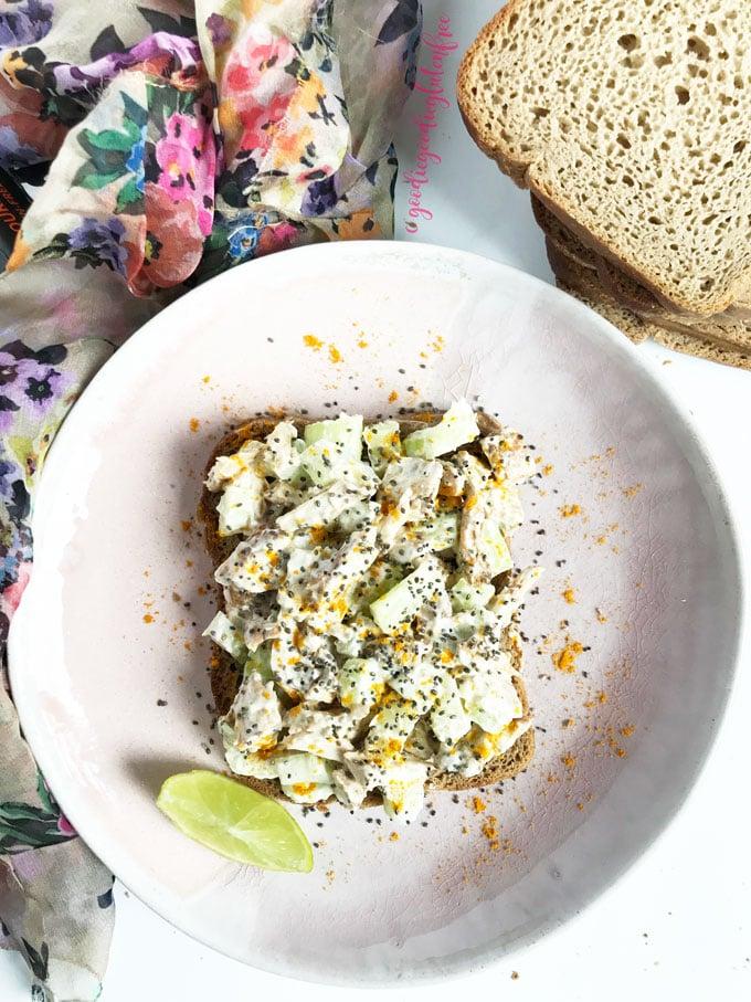 clean chicken salad turmeric gluten free
