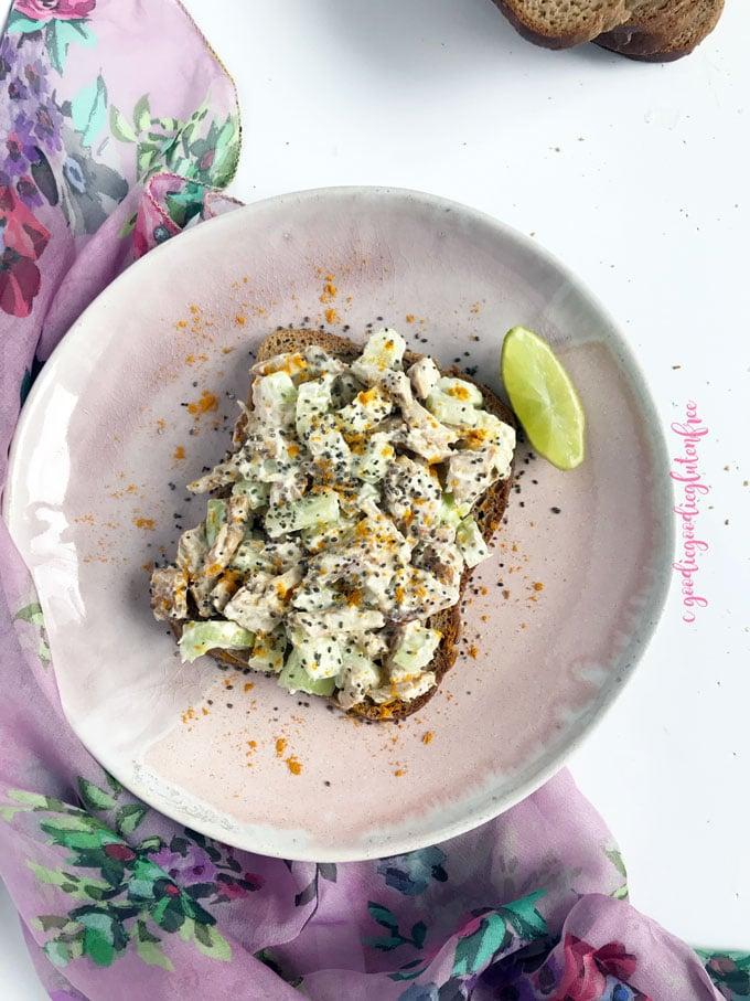 clean creamy dairy free chicken salad gluten free